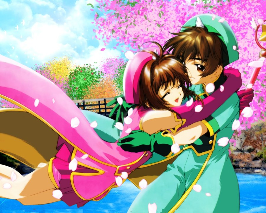 Wide pictures of Card Captor Sakura (8) - Sakura and Lee Syaoran