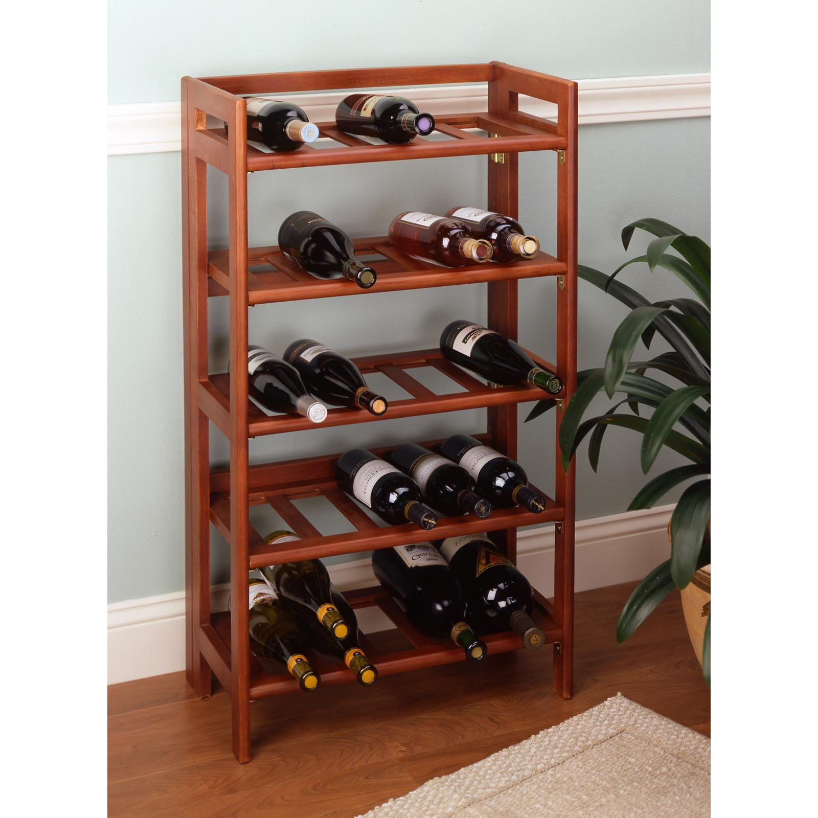 In Floor Wine Storage Accentuate Your Home With A Wood Wine Rack