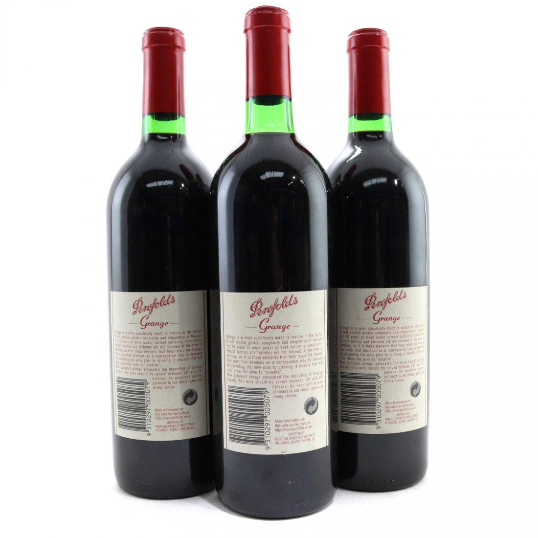 Wine Online Australia Penfolds Grange 1993 South Australia 3x75cl Wine Auctioneer