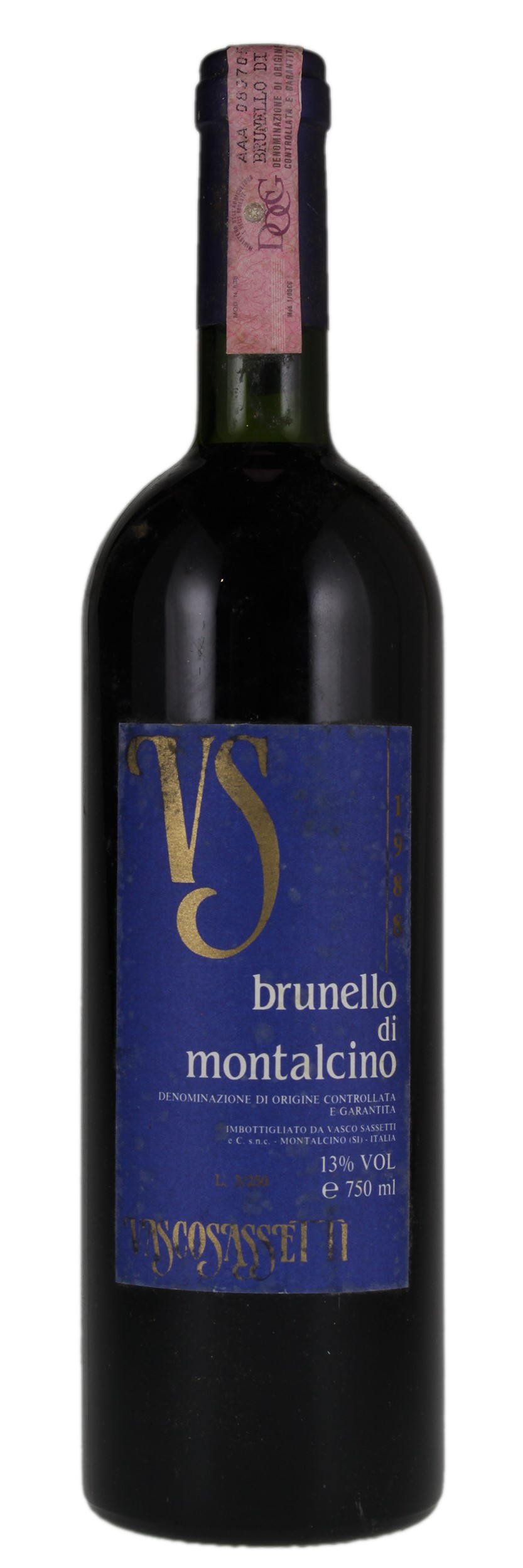 Vasco Sassetti Vasco Sassetti V S Brunello Di Montalcino 1988 Red Wine From