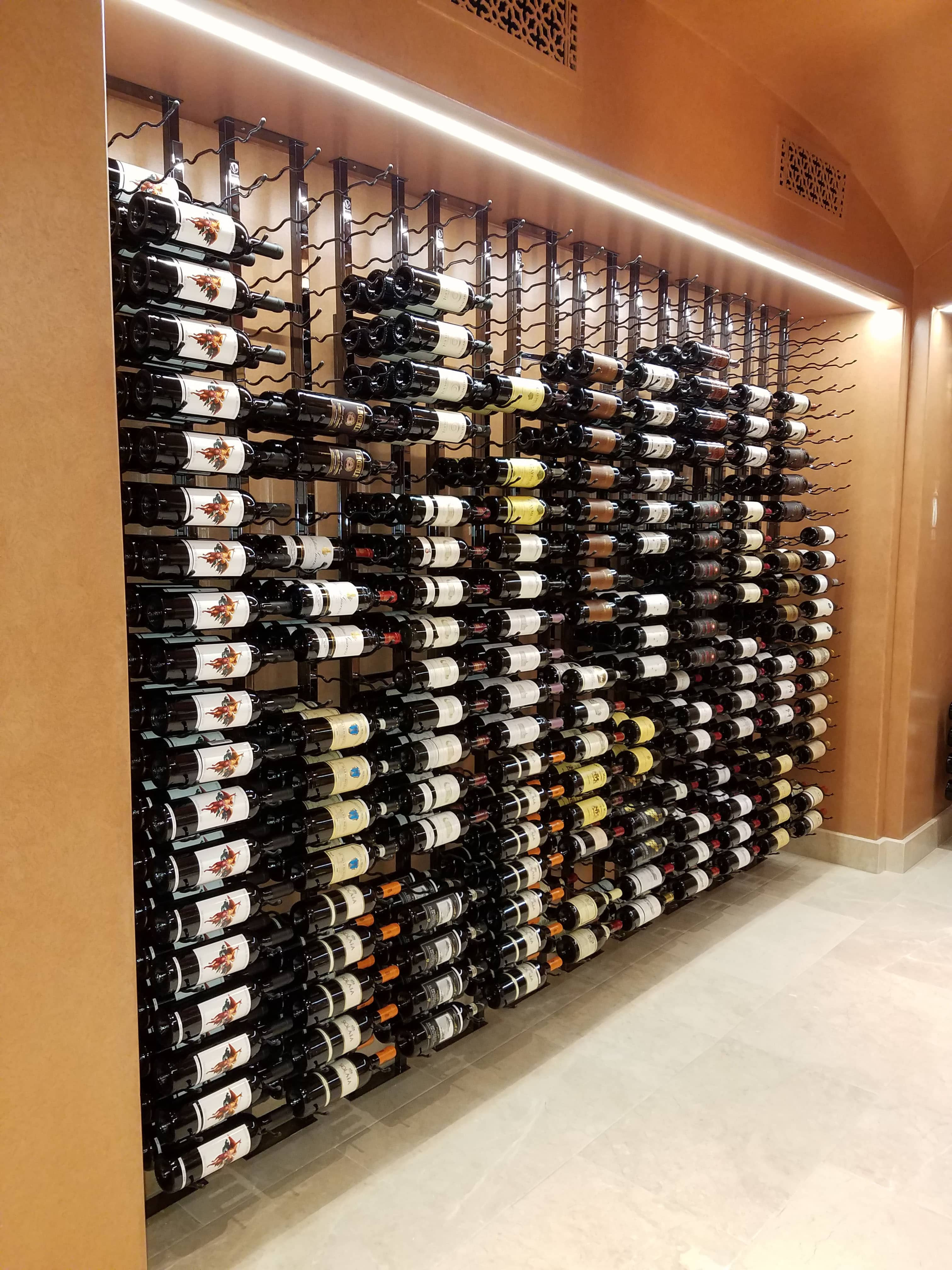 Metal Wine Racks A Stunning Floor To Ceiling Metal Wine Rack Display In Irvine