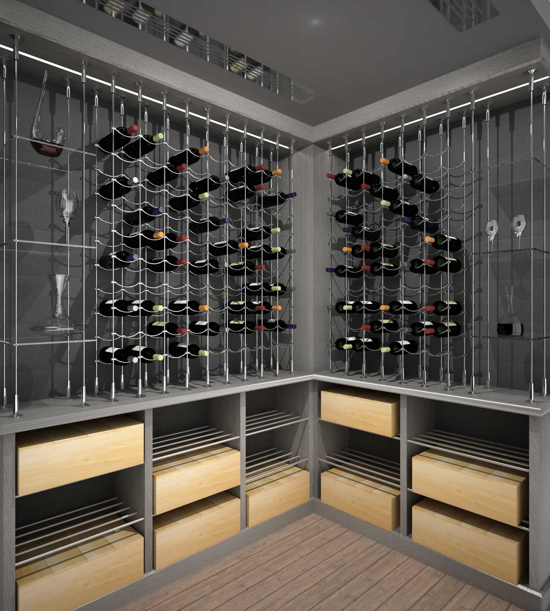 Wine Rack Wire Wine Cellar Specialists Cable Wine Systems