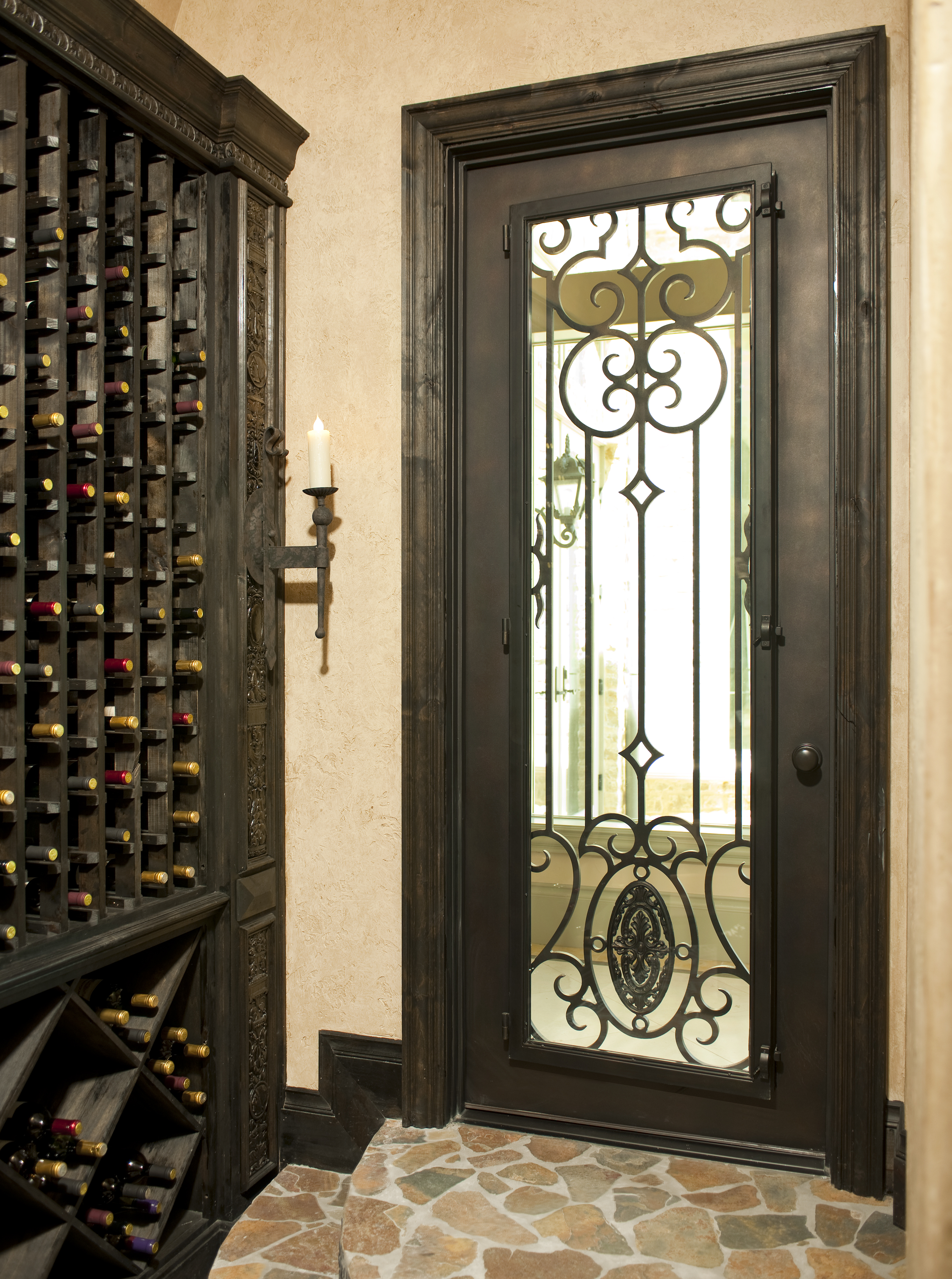 Cellar Door Plans Hand Forged Wrought Iron Custom Wine Cellar Doors And Gates