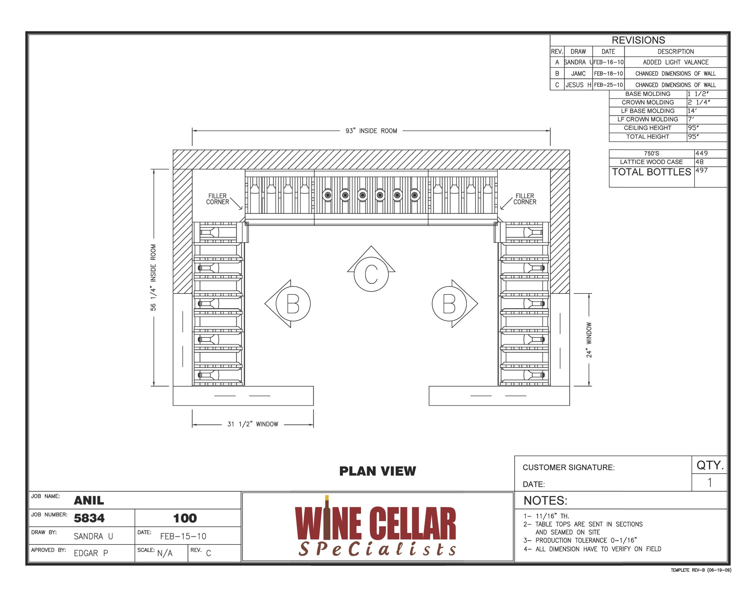 Cellar Door Plans Newly Installed Custom Wine Cellar Chicago Illinois