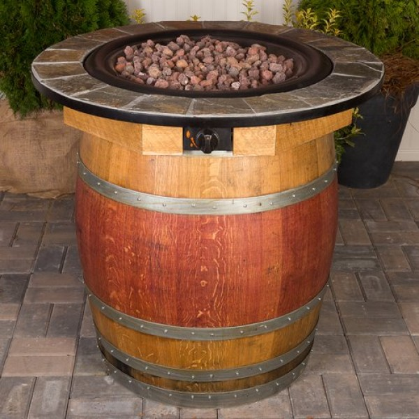 Wine Barrel Fire Pit Table Napa East Collection Wine Country