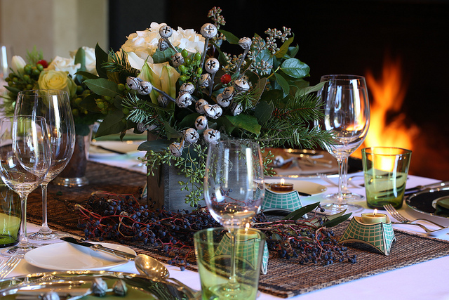 Christmas Table Decorations Eucalyptus Pods Jingle Bells