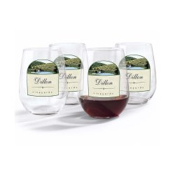 Small Crop Of Personalized Stemless Wine Glasses