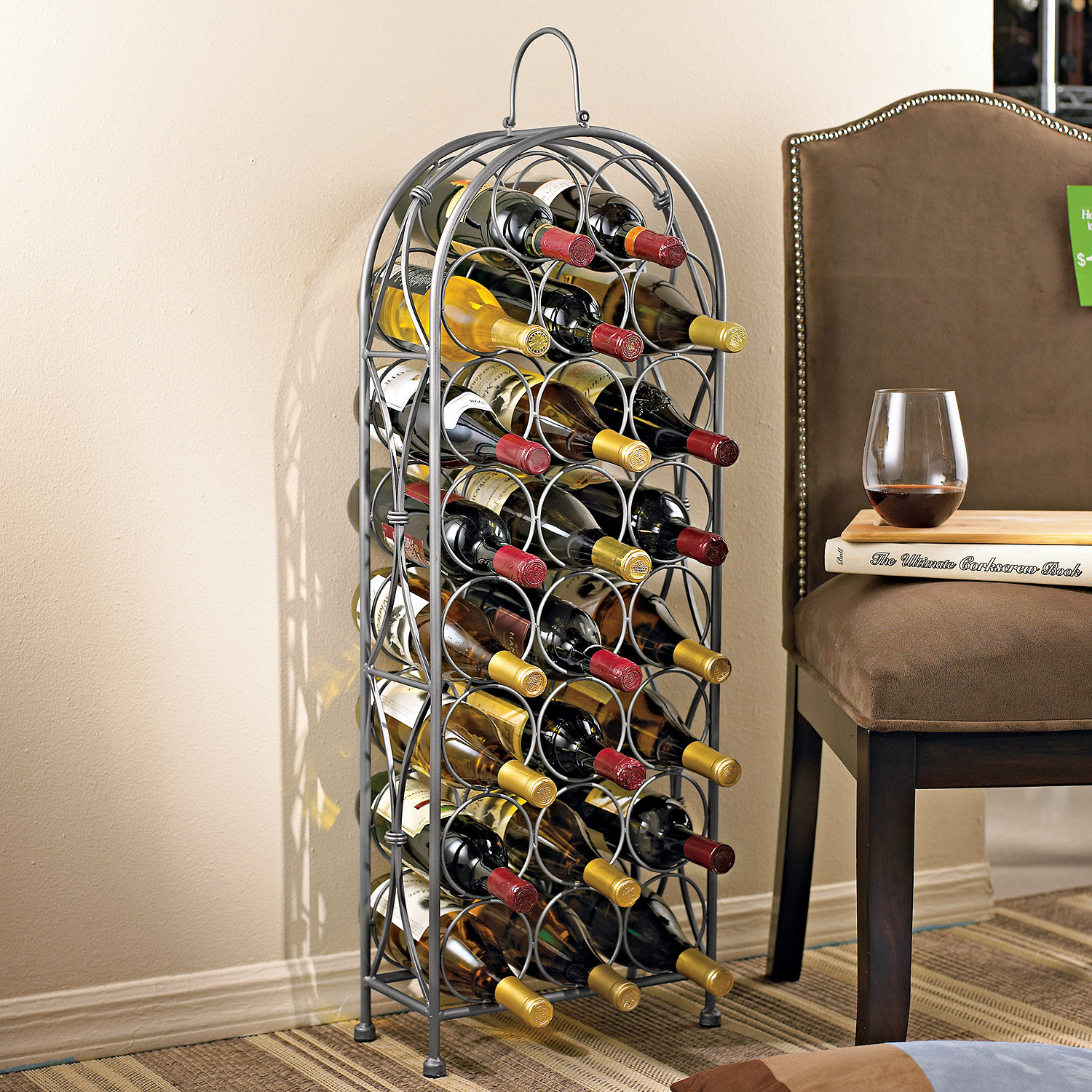 Iron Wine Rack Wall Mounted Wrought Iron Hanging Wine Rack Full Image For Rv Wine