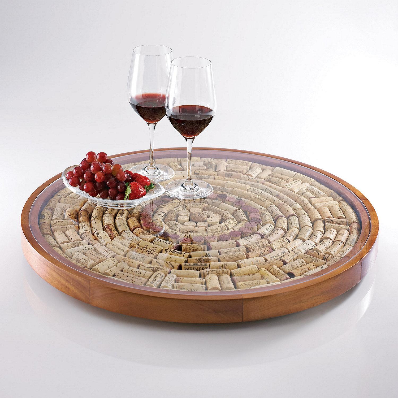 wine cork lazy susan kit preparing zoom