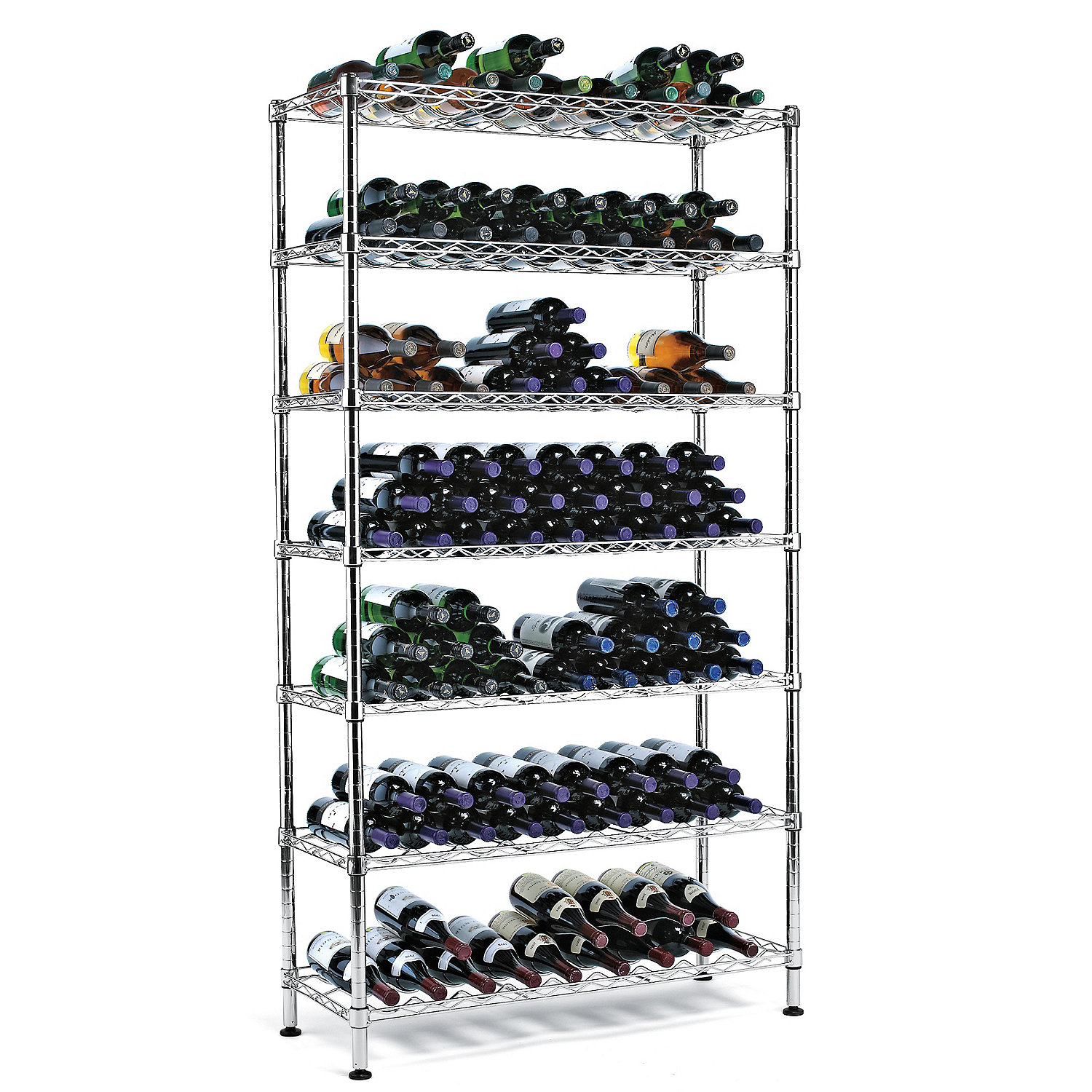 Metal Wine Storage Racks Steel Pantry Wine Rack 126 Bottles Wine Enthusiast
