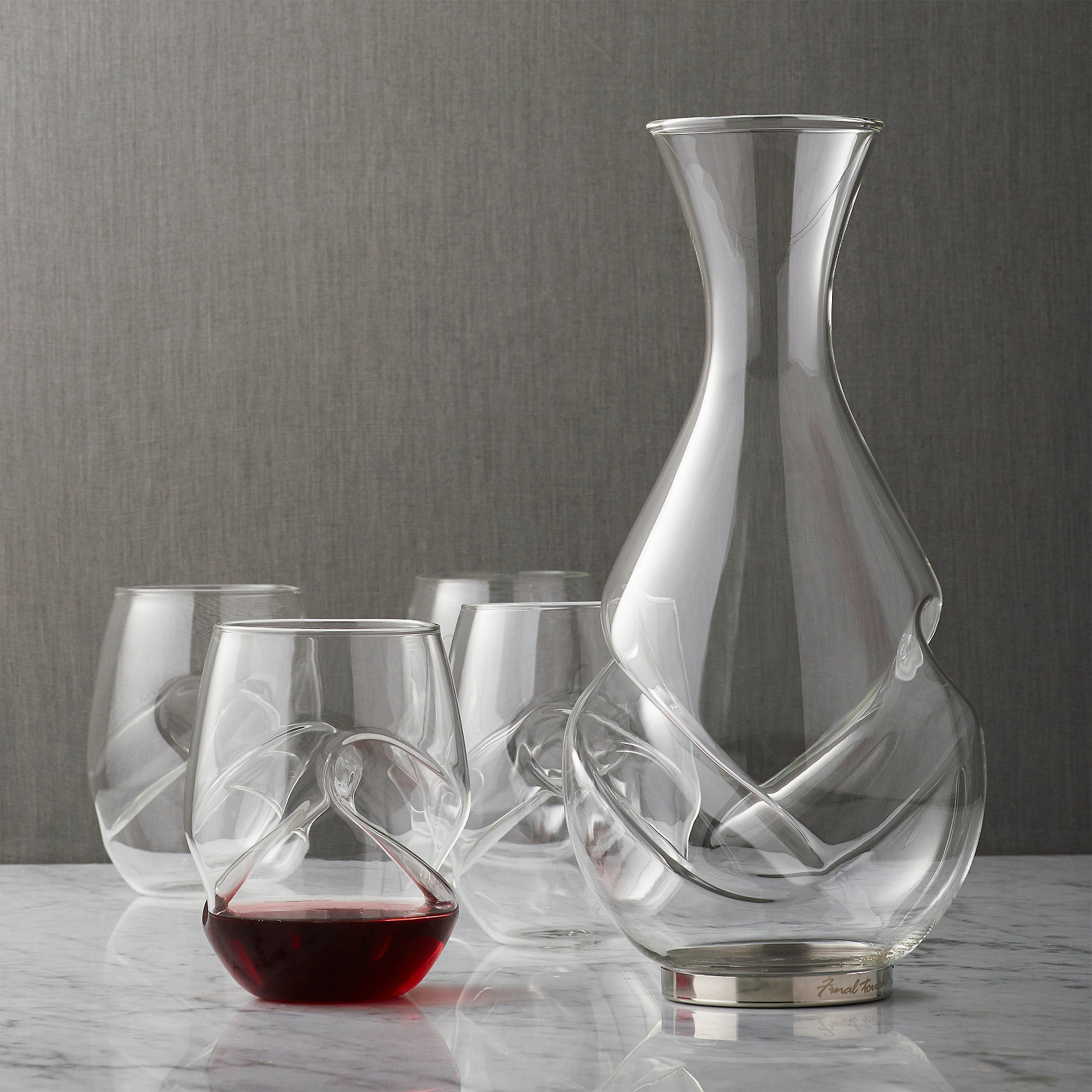 Decanter Wine Glas Aerating Decanter And Wine Glass Set