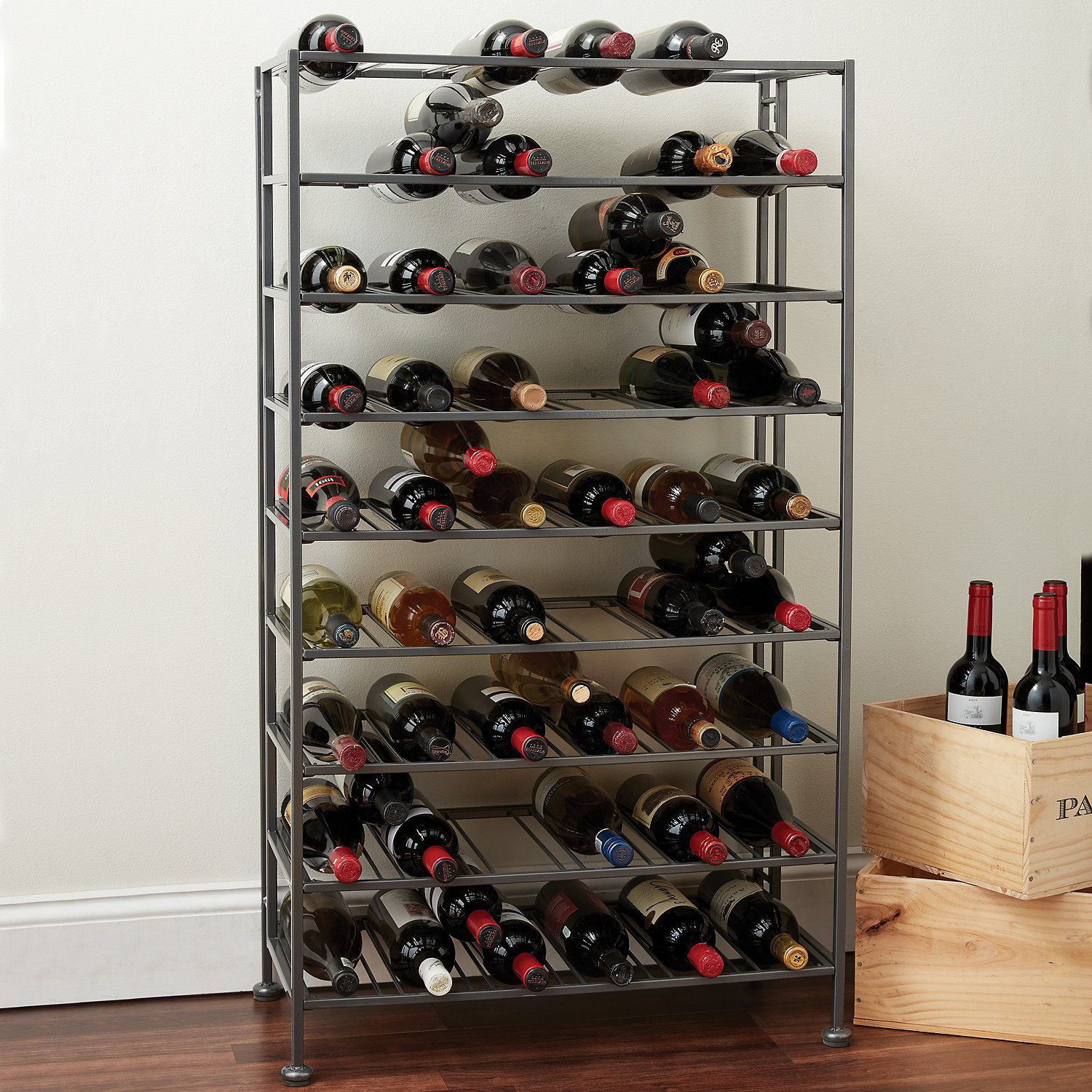 Metal Wine Storage Racks Folding Metal Wine Rack Wine Enthusiast