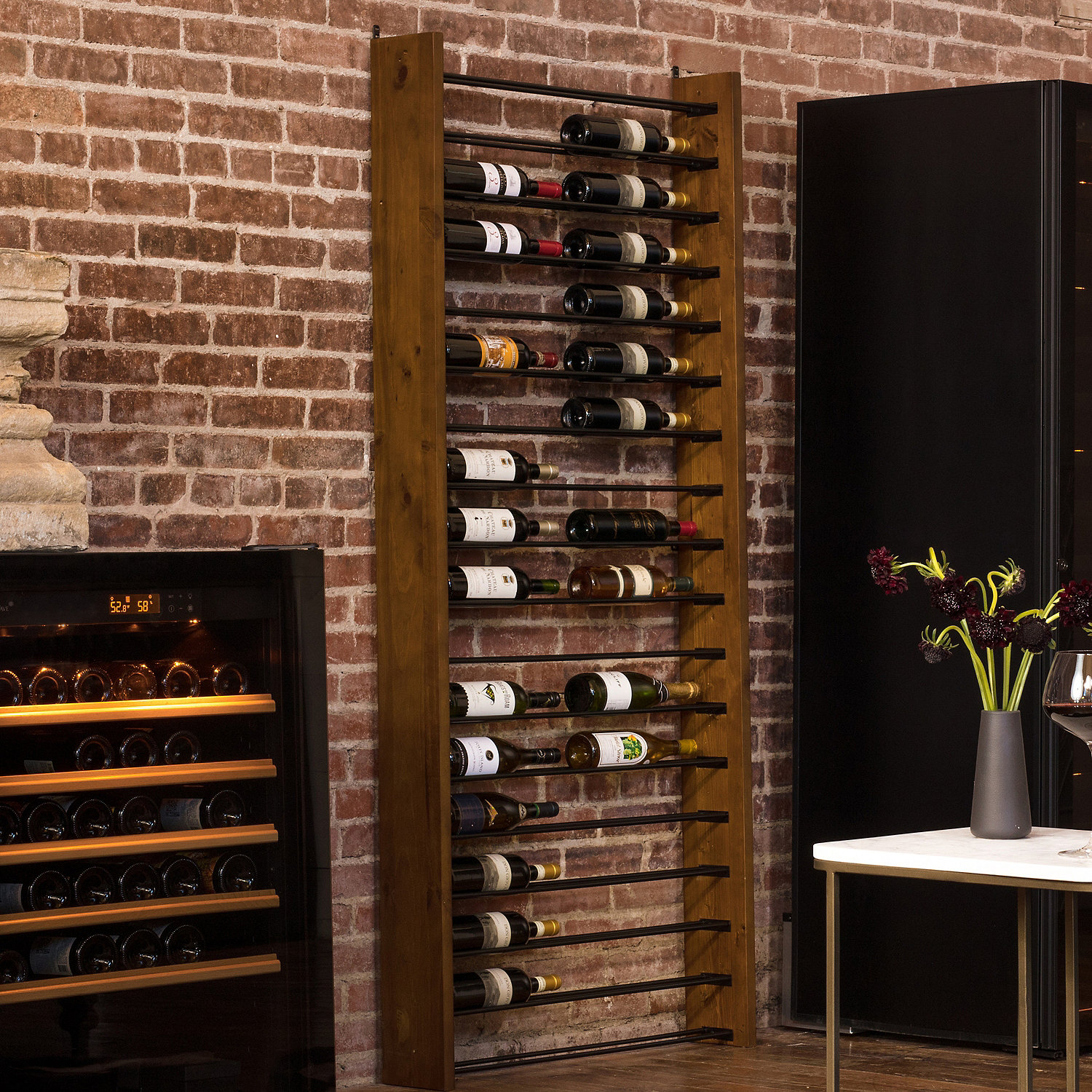 Metal Wine Storage Racks Corsica Vertical Wood And Metal Wine Rack Wine Enthusiast