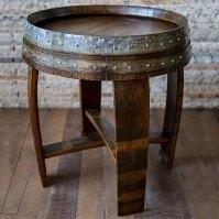 Reclaimed Wine Barrel End Side Table - Wine Enthusiast