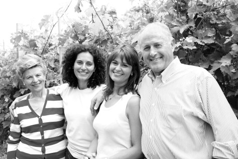 Anna Scavino with daughters Elisa and Enrica, and husband Enrico.