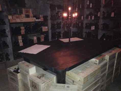 Il Centro wine cellar.