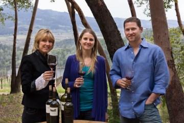 Delia Viader , Janet Viader, Alan Viader from Viader WineryFamily