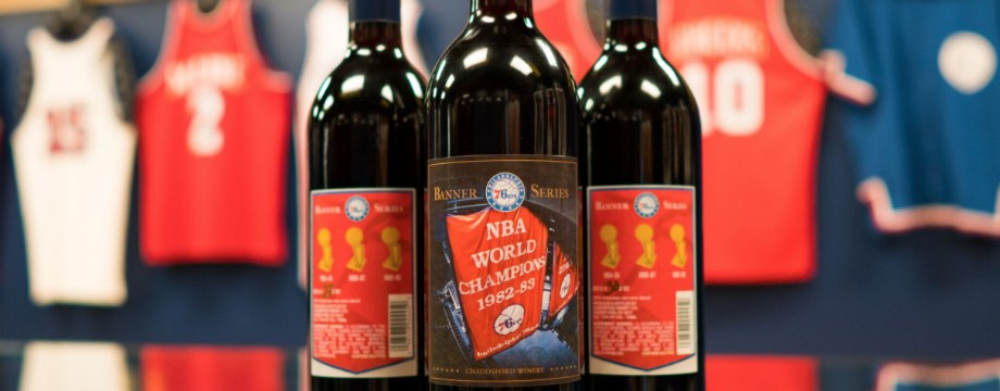 "Philadelphia 76ers Launch Three-Part, Limited Edition, ""Banner Series"" Wine with Chaddsford Winery in Tribute of Iconic Championship History"