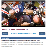 Afternoon Brief, November 22