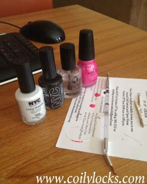 breast cancer awareness manicure monday coily locks 5