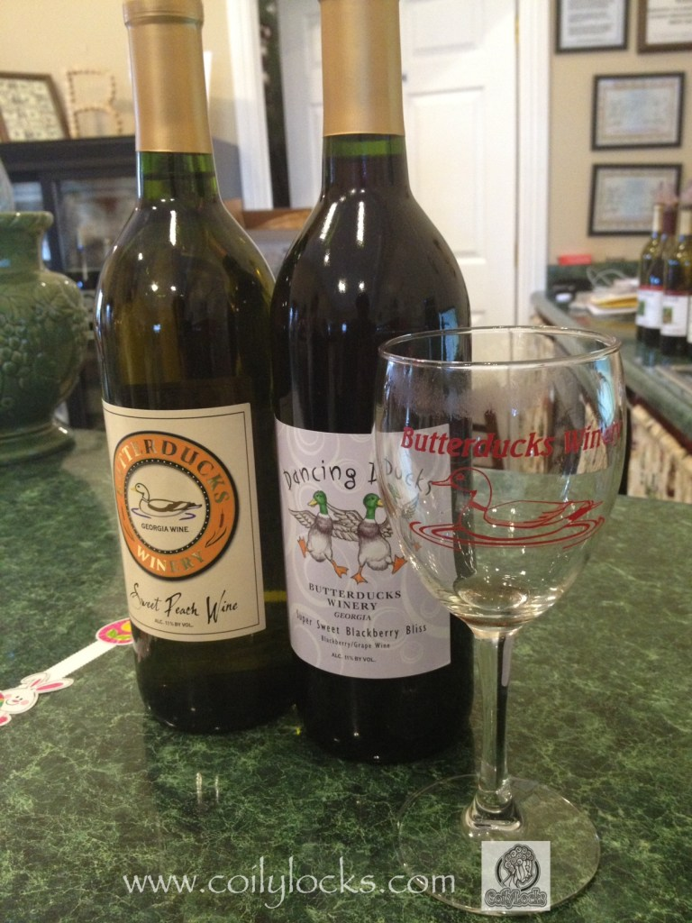 Butterducks Winery sweet peach wine blackerry bliss review coily locks 1