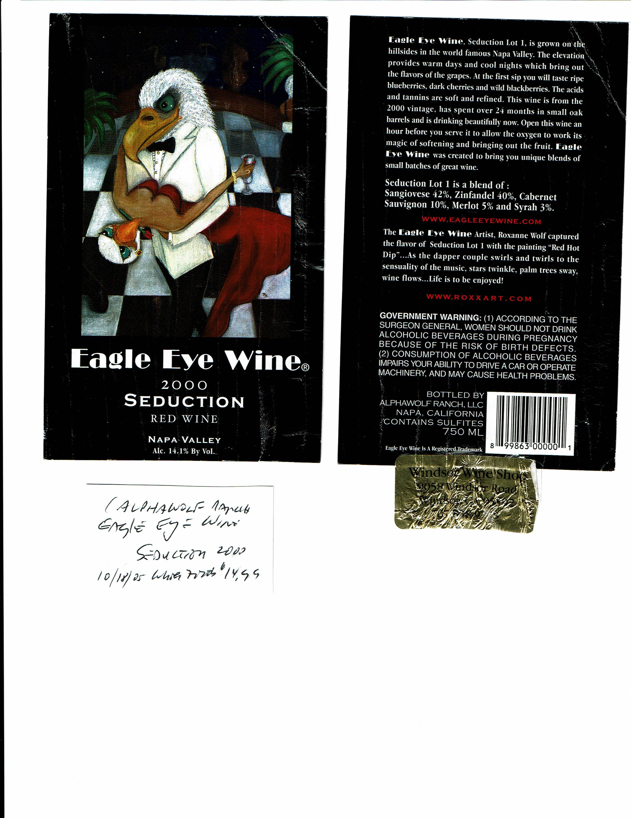 Artevino Llc California Wine Label Collection Library