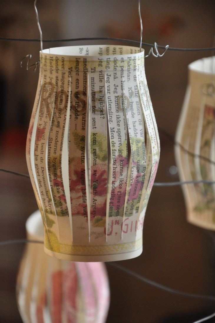 Cute Lace Wallpaper Diy Old Book Crafts No 5 Rose Lanterns Wings Of Whimsy