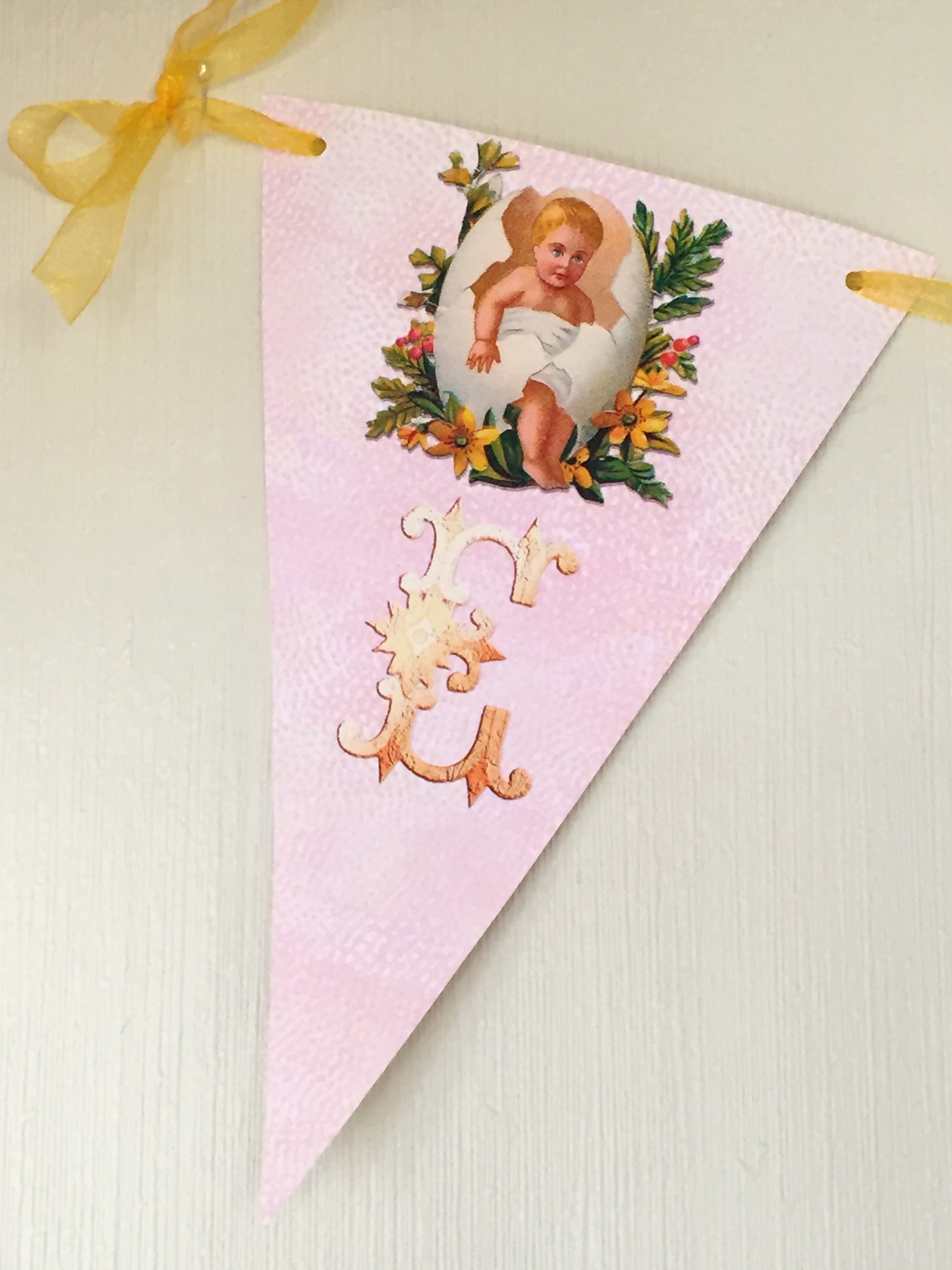 Cute Easter Egg Wallpaper Vintage Easter Egg Babies Bunting Wings Of Whimsy