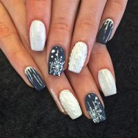 10 Beautiful Winter Sweater Nail Designs and Ideas