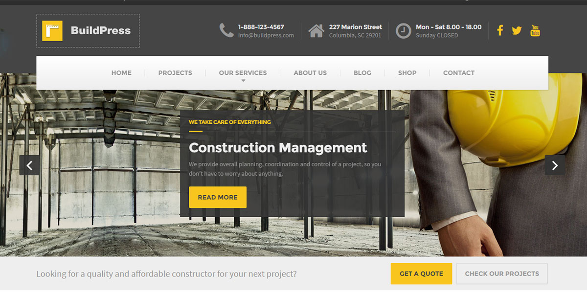 50+ Best WordPress Themes for Builders, Contractors and Construction