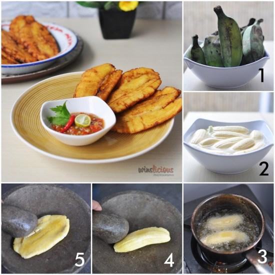 tahap pembuatan pisang peppe