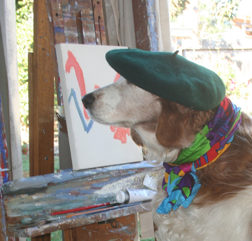 Winslow as Pierre Renoir for Halloween