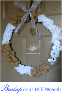Burlap and Lace Wreath {DIY} | Winter and Sparrow