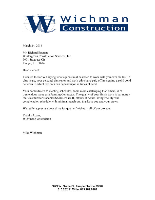 Construction Work Sample Letter Of Intent For Construction Work - loi letter sample