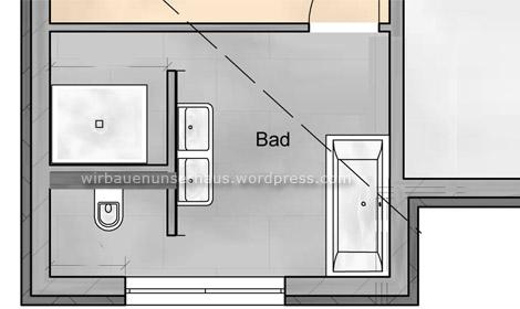 T-Wand im Bad Installationen wir bauen unser haus - badezimmer grundriss