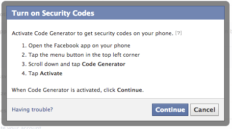 facebook login phone