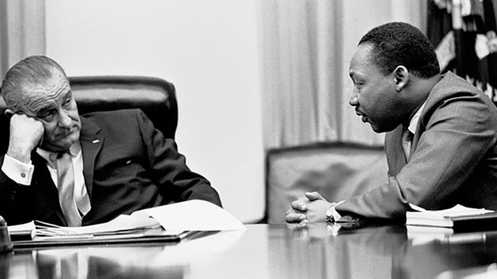 President Johnson and Rev. Martin Luther King