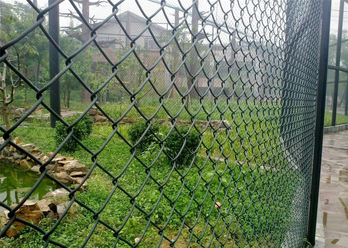 Grüne Gardine Green Pvc Coated Garden Fence, Pvc Coated Diamond Wire ...