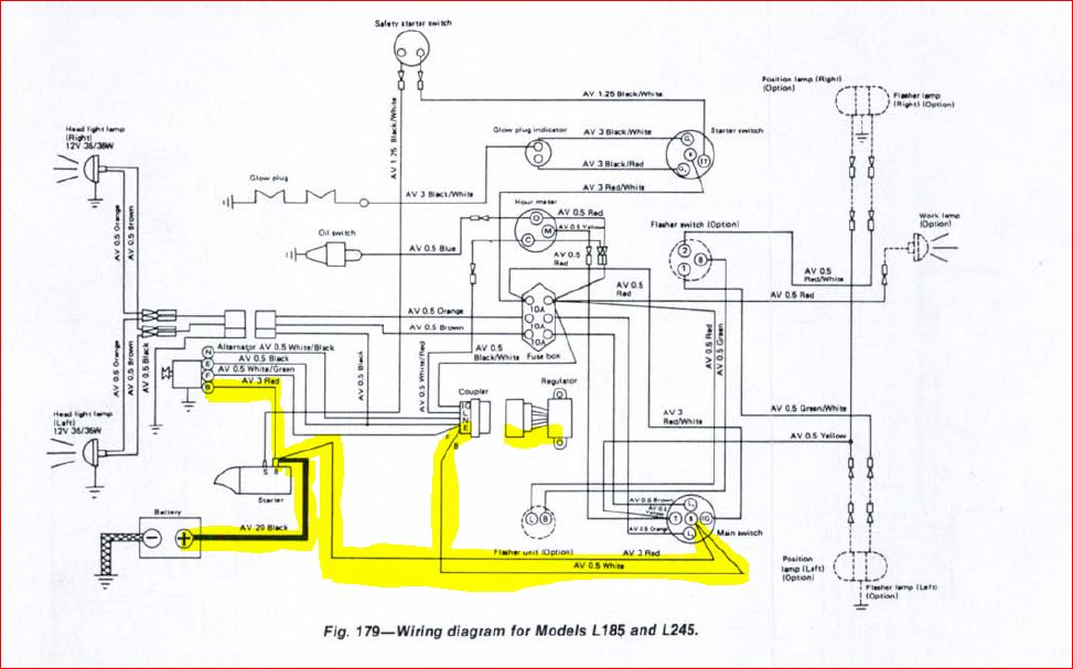 Kubota Tractor L4130 Battery To Ignition Wiring Diagram