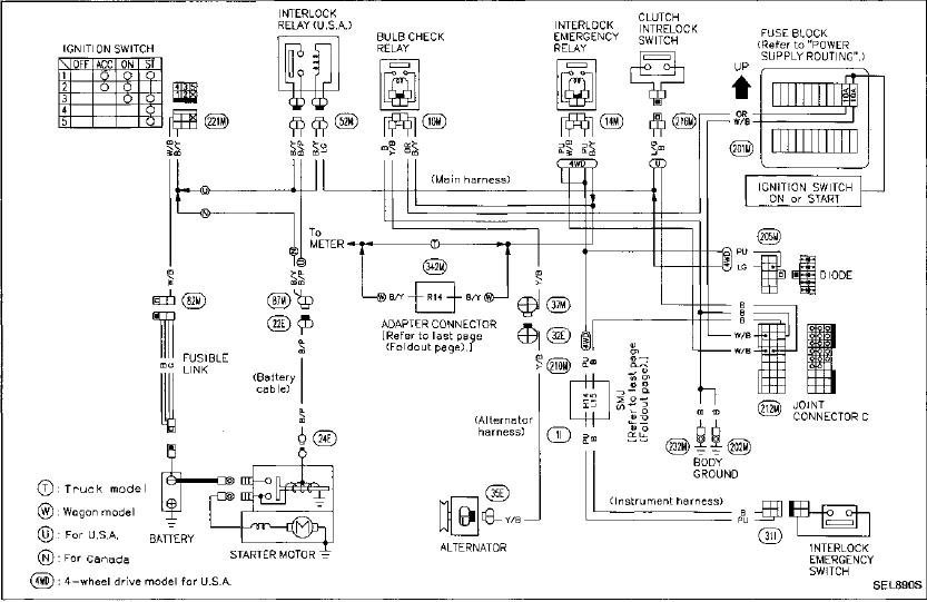12 volt starter wiring diagrams nissan