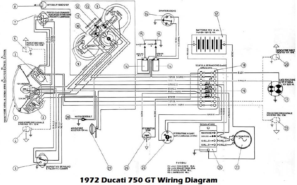 1972 ducati750 gt wiring diagram