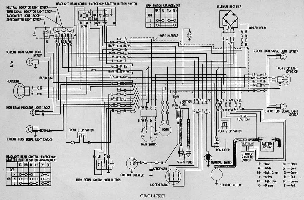 Cb160 Wiring Diagram Diagram Electrical Circuit Diagram