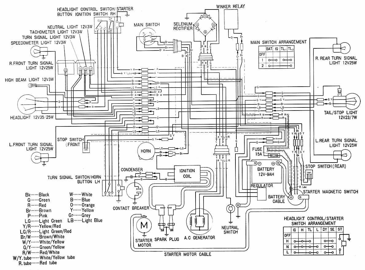 honda cb175 k6 electrical wiring diagram