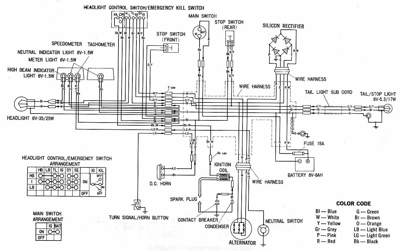 honda cb750k8 electrical wiring diagram