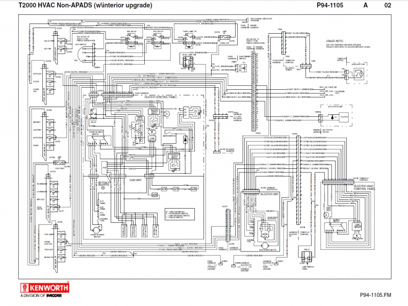 kenworth truck wiring diagram