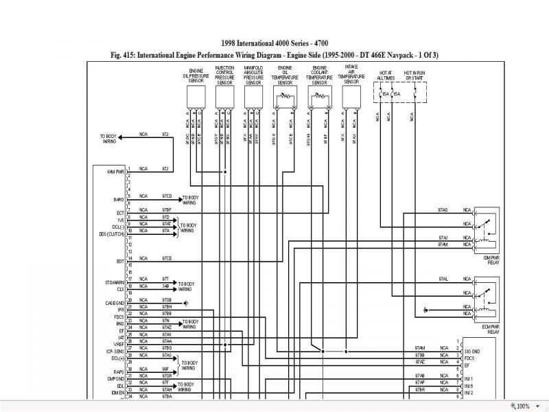 2000 international 4900 dt466e wiring schematic