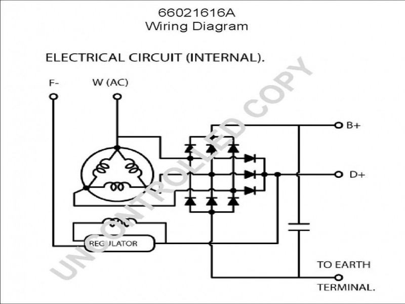how to wire alternator diagram