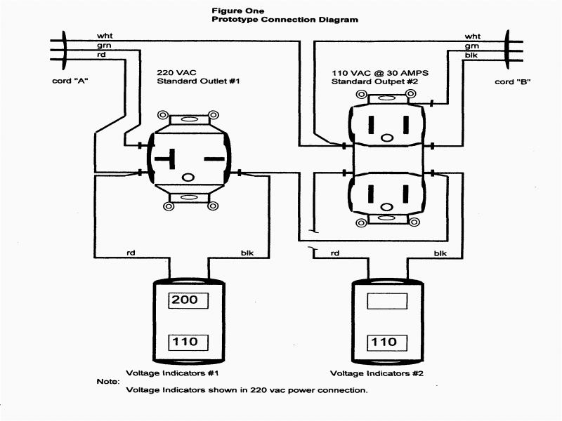 220 to 110 adapter wiring diagram