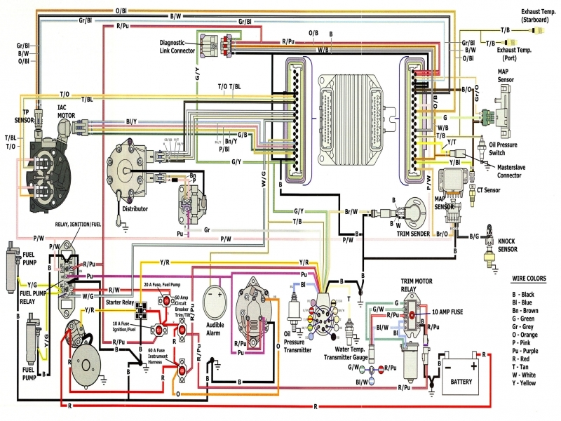 volvo penta wiring diagram alternator