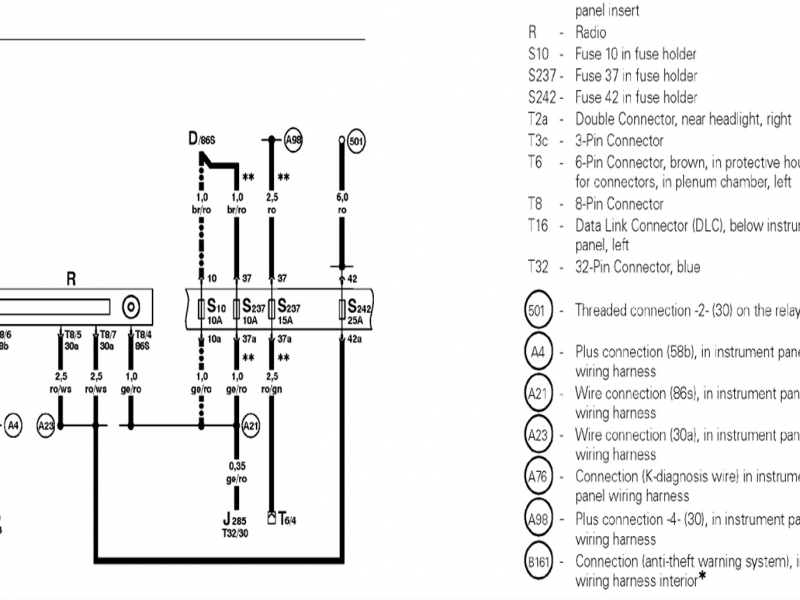 2000 vw beetle radio wiring diagram